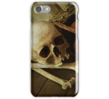 Still life with bones and onions iPhone Case/Skin
