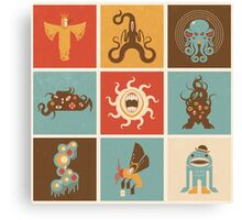 The Lovecraftian Squares Canvas Print