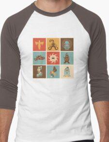 The Lovecraftian Squares Men's Baseball ¾ T-Shirt