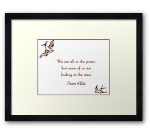 Looking at the Stars Framed Print