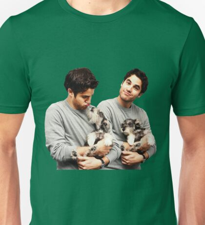 Darren Criss holding a puppy Unisex T-Shirt