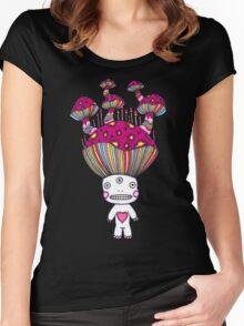 Third Eye Mushroom Women's Fitted Scoop T-Shirt