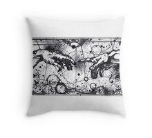 Creation of Adam by Michelangelo Throw Pillow