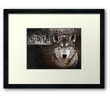 Wolf Gang Framed Print