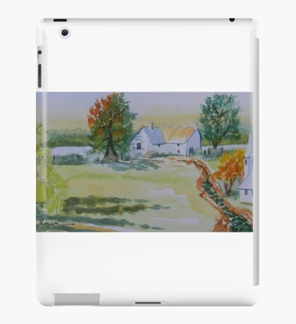 Farmhouse and Church Landscape iPad Case/Skin