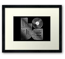 Record Love - Metallic - Chrome Framed Print