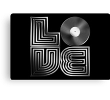 Record Love - Metallic - Chrome Canvas Print