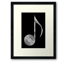 Vinyl Record Musical Eighth Note - Metallic - Steel Framed Print