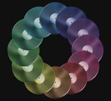 Ring of Vinyl LP Records - Metallic - Rainbow by graphix