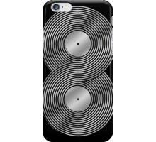 Vinyl Record Infinity - Mobius Strip - Metallic - Silver iPhone Case/Skin