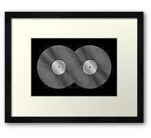 Vinyl Record Infinity - Mobius Strip - Metallic - Silver Framed Print