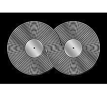 Vinyl Record Infinity - Mobius Strip - Metallic - Silver Photographic Print