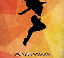Wonderwoman Minimal Poster by Jelsier