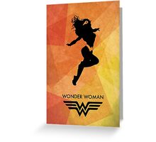 Wonderwoman Minimal Poster Greeting Card
