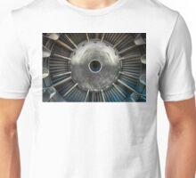 Closeup photo of a jet engine Unisex T-Shirt
