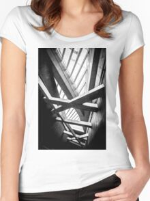 Modern conceptual high tech building Women's Fitted Scoop T-Shirt