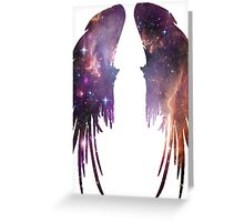 Angel Pink Galaxy Wings Greeting Card