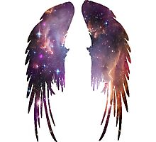 Angel Pink Galaxy Wings Photographic Print