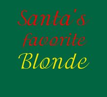SANTA'S FAVORITE BLONDE Womens Fitted T-Shirt