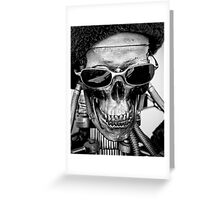 Vintage robot black and white photo Greeting Card