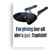 Starship Enterprise Canvas Print