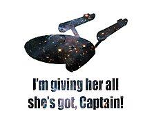 Starship Enterprise Photographic Print