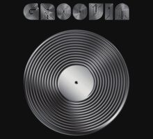 Groovin - Vinyl LP Record & Text - Metallic - Steel Kids Clothes