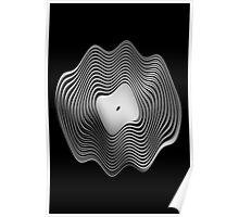 Warped Vinyl LP Record - Metallic - Steel Poster
