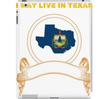 Live in Texas But Made in Vermont iPad Case/Skin