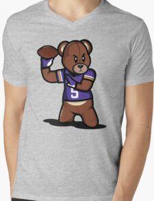 VICTRS - Teddy Football™ Mens V-Neck T-Shirt