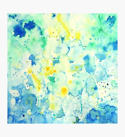 Watercolor abstract landscape Painting Photographic Print