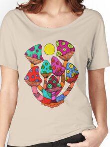Full Moon Mushrooms Women's Relaxed Fit T-Shirt