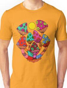 Full Moon Mushrooms Unisex T-Shirt