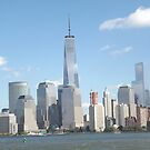 New World Trade Center, Lower Manhattan Skyline, Hudson River, View from New Jersey by lenspiro