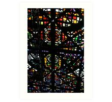 Stained glass ceiling, NGV Art Print