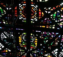 Stained glass ceiling, NGV by Maggie Hegarty