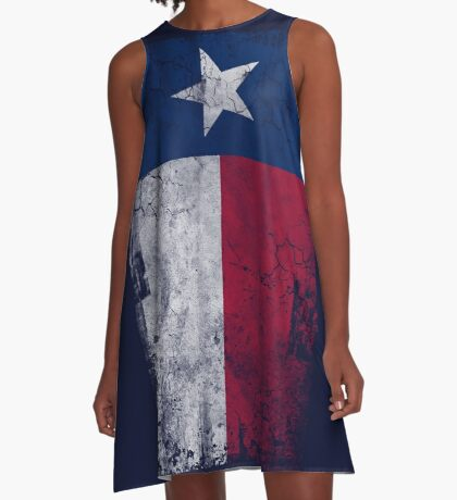 Vintage Vertical State Flag of Texas A-Line Dress