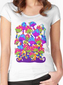 Indie Mushrooms Women's Fitted Scoop T-Shirt