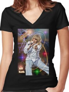 Jeff Keith of Tesla Women's Fitted V-Neck T-Shirt