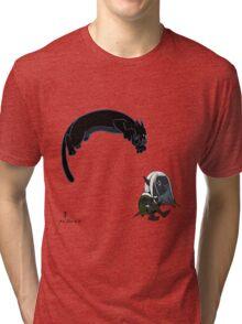 Drizzt and Guenhwyvar Tri-blend T-Shirt