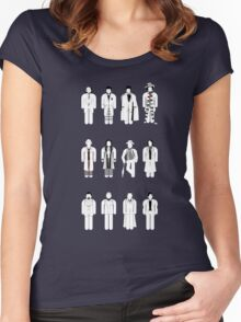Timelord recognition guide (white) Women's Fitted Scoop T-Shirt