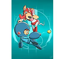 Mega Man and Rush Photographic Print