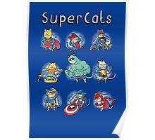 Superheroes Cats Poster
