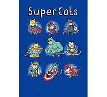 Superheroes Cats Photographic Print