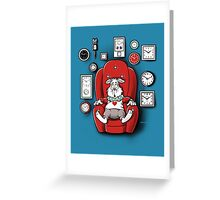 Rabbit in time Greeting Card