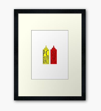 Pc Mustard Race Framed Print