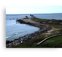whatch hill, rhode island - lighthouse Canvas Print