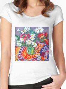 Daisy Still Life Women's Fitted Scoop T-Shirt