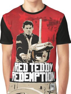 Red Teddy Redemption Mashup Graphic T-Shirt