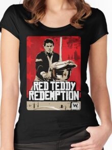 Red Teddy Redemption Mashup Women's Fitted Scoop T-Shirt